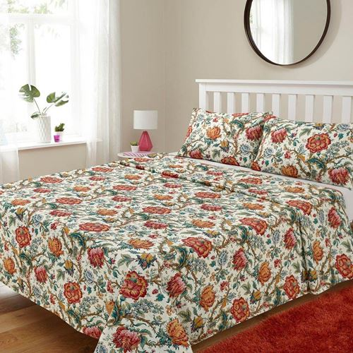 Picture of Retro flowers sheet set