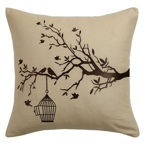 Picture of Bird branch cushion
