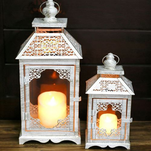 Picture of 2 pc's set candle lantern