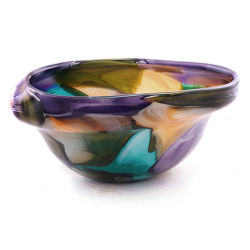 Picture of Abstract glass floor bowl