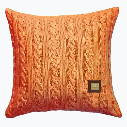 Picture of Woolen cushion orange