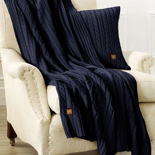 Picture of Woolen throw navy