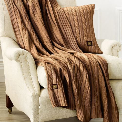 Picture of Woolen throw beige