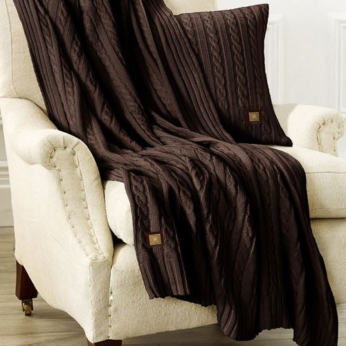 Picture of Woolen throw brown