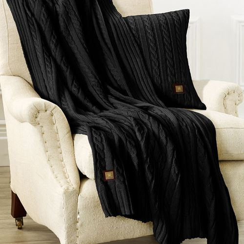 Picture of Woolen throw black