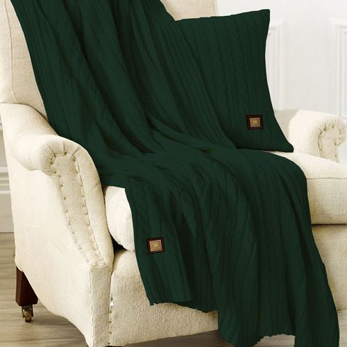 Picture of Woolen throw green